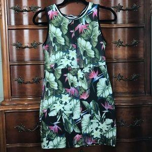 ASOS Daisy street body Con Dress in Leaf Print